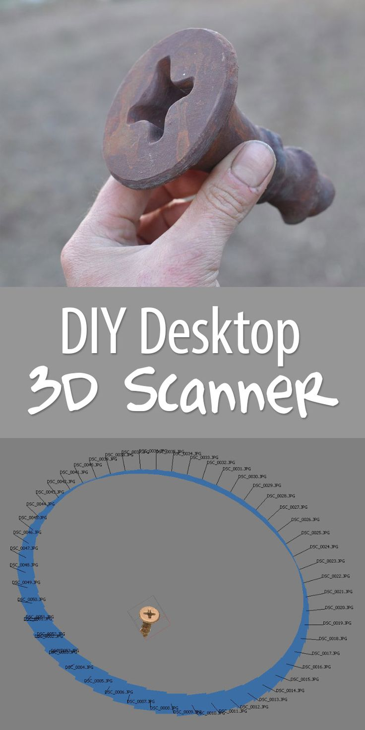 You can build a 3D scanner for <$50. No joke!
