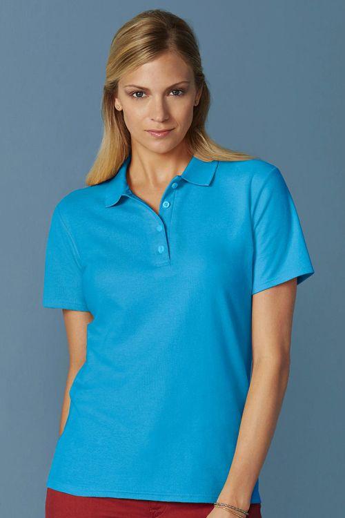 Tricou polo de femei Softstyle® Double Pique Gildan din 100% bumbac, ring spun #tricouri #polo #personalizate #gildan #promotionale