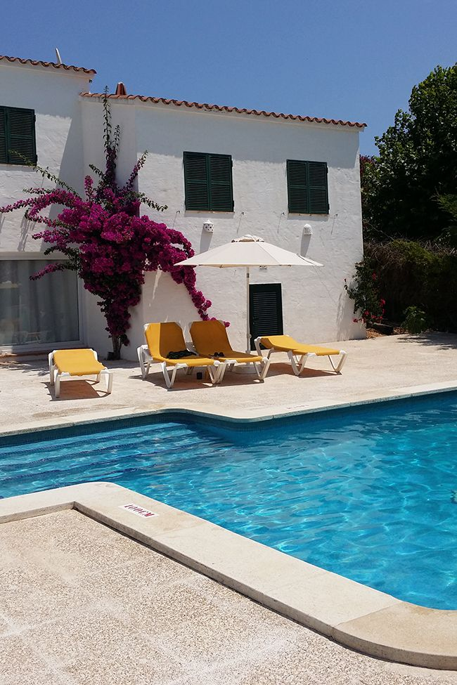 Our pool in Binibeca Menorca villa