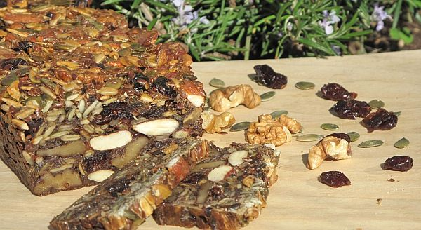 Delicious bread baked with no flour only nuts and seed. Try it!