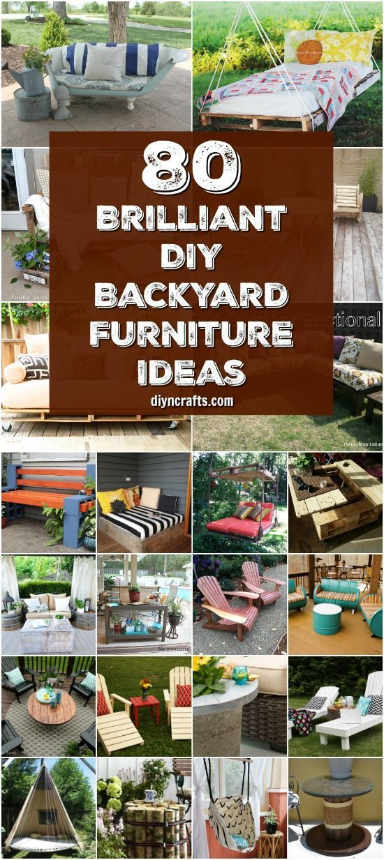 80 Brilliant DIY Backyard Furniture Ideas That Will Give Your Outdoors Character {With Tutorial Links} via @vanessacrafting