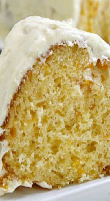 Mandarin Orange Cake with Pineapple Frosting