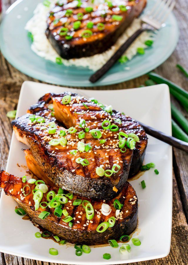 These Maple Soy Grilled Salmon Steaks require only a handful of ingredients and a few minutes of your time. Simple, delicious and incredible flavors.