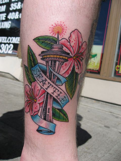 Space Needle tattoo