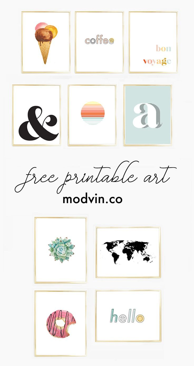 Download 10 Free Printables For Your Modern Gallery Wall At Modvin Co Free Printable Art Gallery Wall Prints Free Gallery Wall Printables