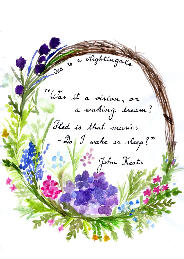 ode to john keats 'ode to a nightingale,' one of john keats's most famous poems, was composed in may 1819, evidently in a single day it explores themes of transience, mortality, and the relationship between.
