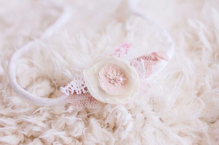 Pink lace tieback