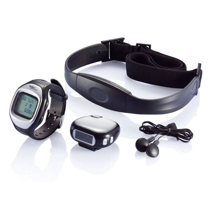 Jogging set - Set including FM radio pedometer with headset and heart rate monitor, watch with accurate wireless pulse measuring, visual and audio alert, user profile like gender, weight, exercise intensity and target heart rate percentage. Watch has calendar, stopwatch, 2 countdown timers, alarm and waterproof up to 30 meter. For more great ideas contact john@fortunemarketing.ie