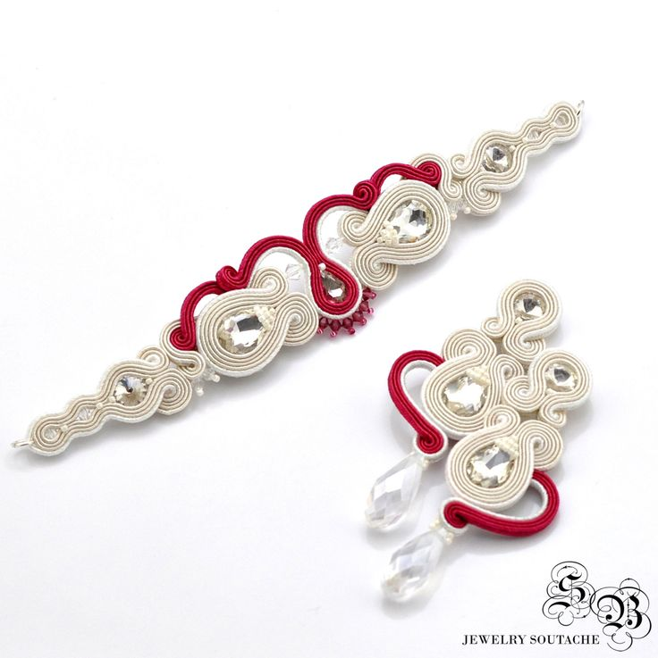 Bridal jewelery set, Soutache set, Earrings for bride, Jewelry for bride…