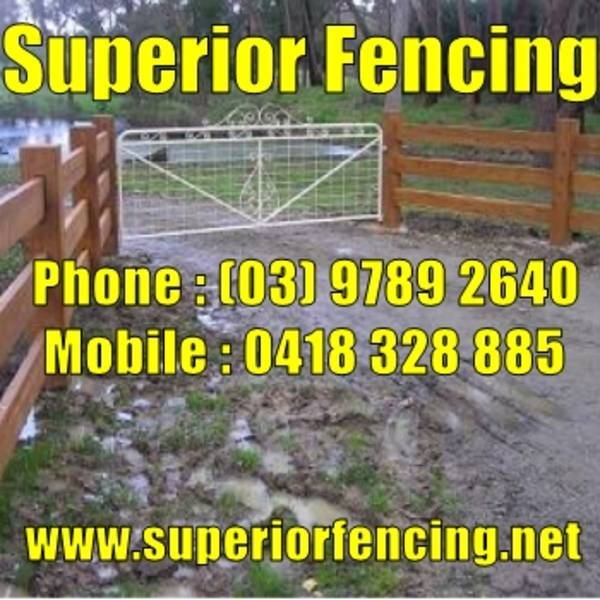 http://www.superiorfencing.net Based In Langwarrin Victoria, Mick & Jack service the local area and beyond, including the Mornington Peninsula and also the Western Port region.     Superior Fencing specialises in rural and farm type fencing, we also do large projects for newly established estates.     We specialise in all of the following styles of fencing.      * Post & Rail Fencing * Post & Wire Fencing     * Electric Fencing      * Chainmesh (Cyclone) Fencing * Security Fencing