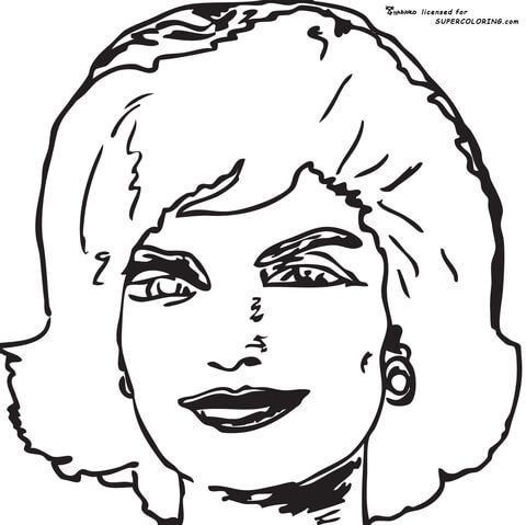 jackie jackie kennedy onassis by andy warhol coloring page