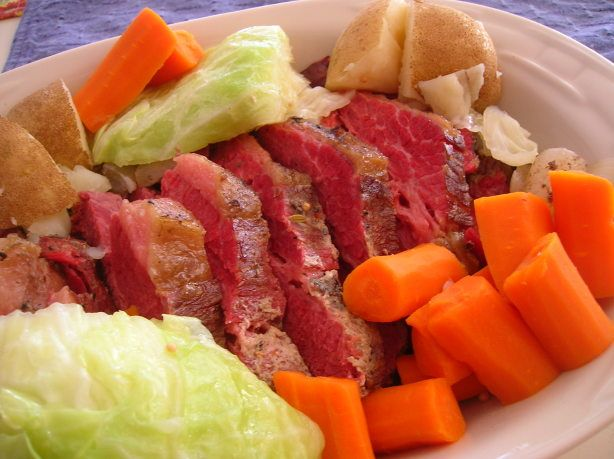Corned Beef And Cabbage Crock Pot) Recipe - Food.com Cider vinegar, I've never used that, I bet it's yummy