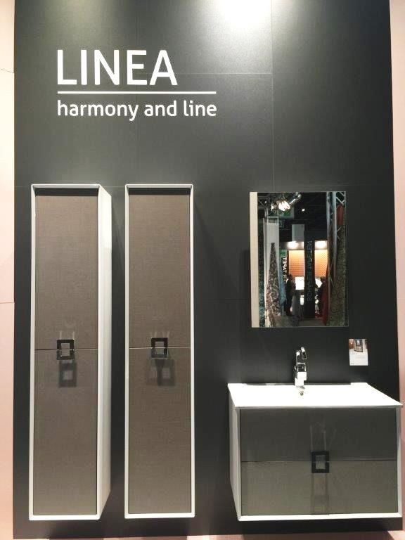 #Linea#stand#bathroom#furniture#IMMCologne#Defra