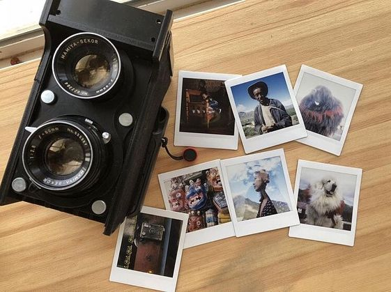 Custom TLR with Mamiya lens and SQ6 Instax square back by