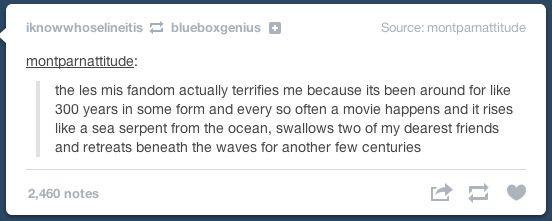 An accurate description of the Les Mis fandom.