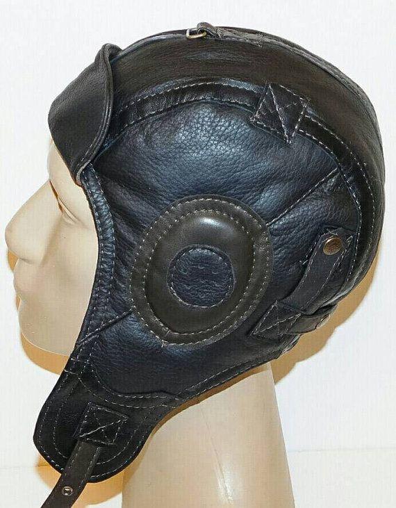 Tweede Wereldoorlog Vintage stijl handgemaakte echte door leatherhat