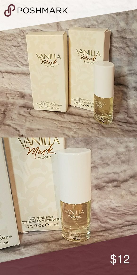 Vanilla Musk by Coty 2 Brand New Bottles SM20 Each bottle has. 375 fl. oz. You get 2 brand new bottles.  Hard to find retro fragrance. Coty Other