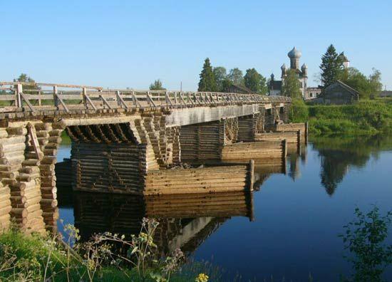 Русские деревянные мосты | Деревянная архитектура и деревообработка
