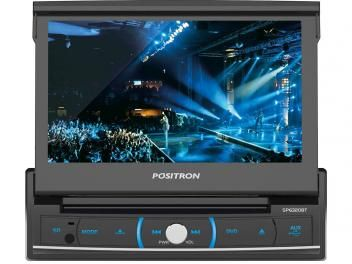 "DVD Automotivo Pósitron SP6320 Retrátil Tela 7"" - Touch Screen Entradas USB Aux e p/ Câmera de Ré"