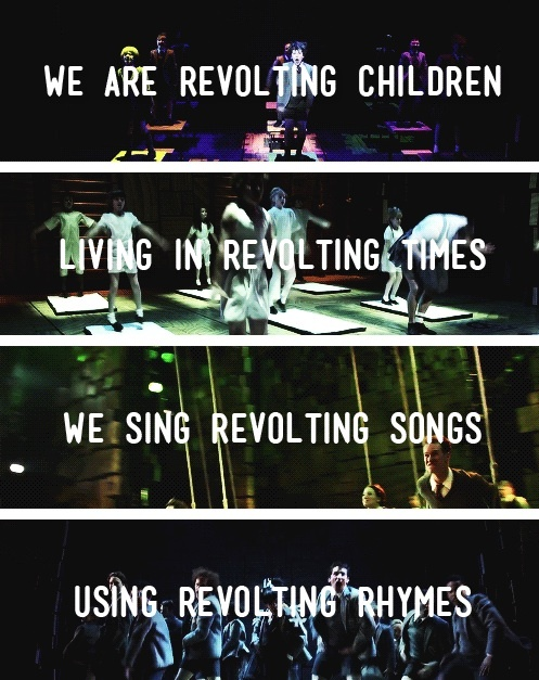 we'll be revolting children 'til our revolting's done