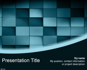 3D Blue Blocks PowerPoint Template | Free Powerpoint Templates