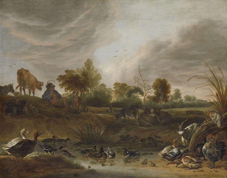 Landschap met dieren, Cornelis Saftleven, 1652 Marte Bouma: Ik vind dit schilderij heel mooi, want de schilder heeft heel gedetailleerd geschilderd en de dieren mooi laten zien.