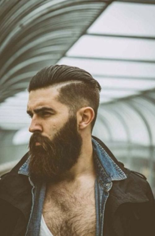 Beard. Man cleave. Furrowed brow. Diggin this look and I don't even like beards