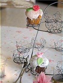 Wire hearts Cupcake Holder: Cupcake Holders, Wire Cupcakes, Heart Cupcakes, Cupcakes Holders, Cupcakes Rosa-Choqu