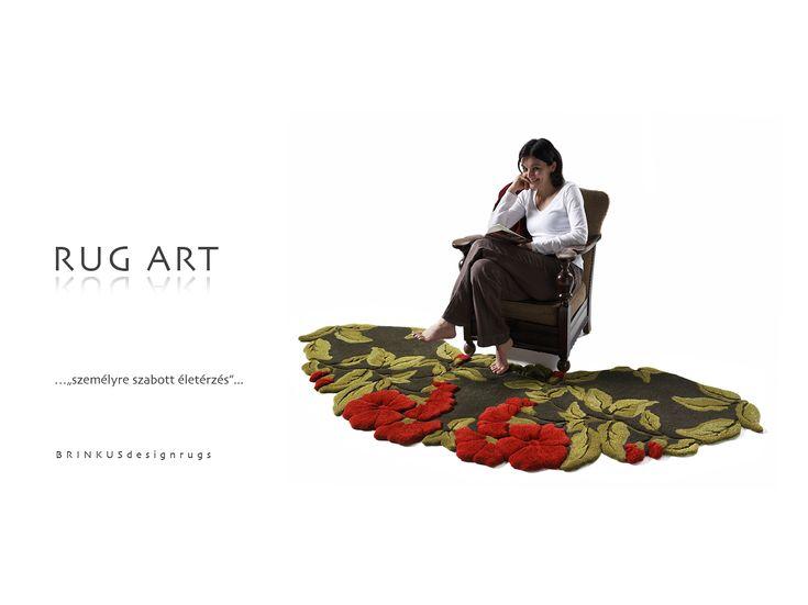 """Spring"" - 3D hand-tufted rug"