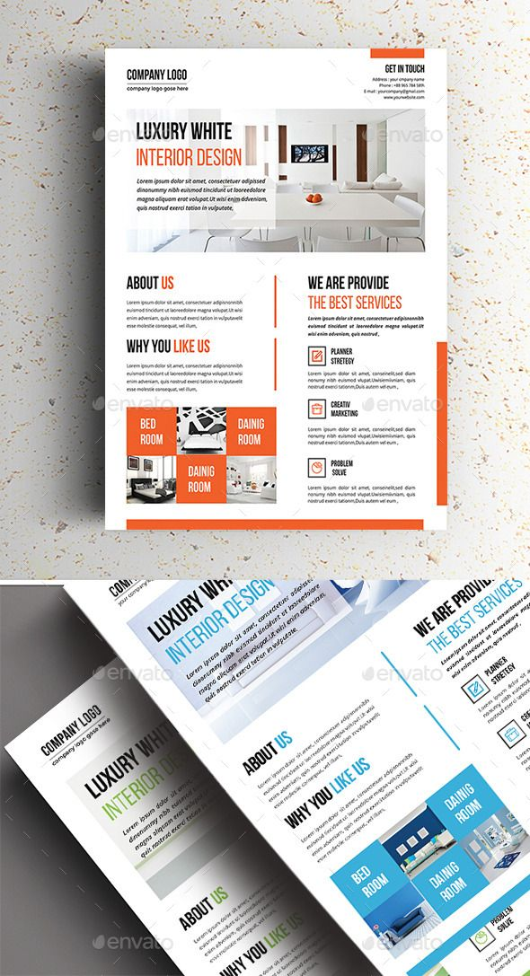 Clean Interior Flyer Template PSD #design Download: graphicriver.net/...