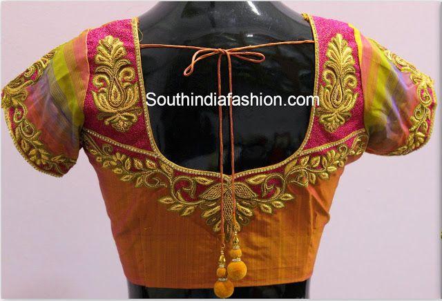 Maggam Work Designer Blouse for silk sarees
