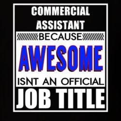 Commercial Assistant Because Awesome Official Job Title T Shirt