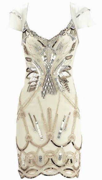 White Bejeweled Dress