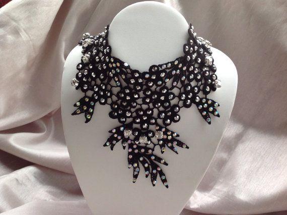 Fine jewelry Black Italian Lace Necklace with by JewelryByShari, $175.20