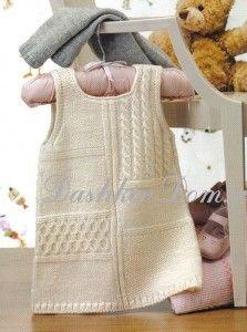 beautiful knitted dresses 4 girls