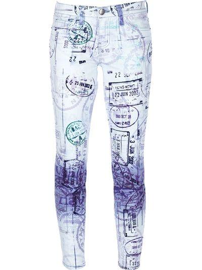 MARY KATRANTZOU X CURRENT/ELLIOTT - passport print jeans 6
