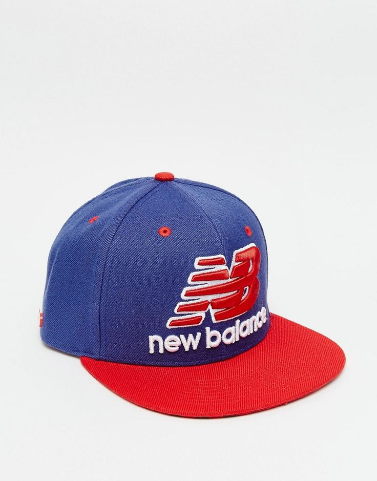 Mega cool New Balance Courtside Snapback Cap - Blue New Balance Accessories til Herrer i dejlige materialer