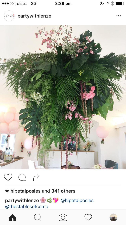 Engagement Party • Retro Tropical • Retro Palm Springs Party • California • tropical decor • palm decor