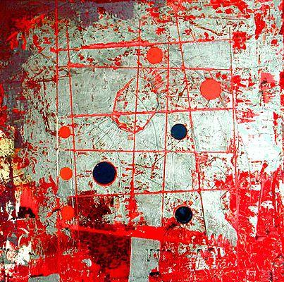 "Fibonacci 47 by Jylian Gustlin 36""x36"" #mixed_media #art #mathematics"