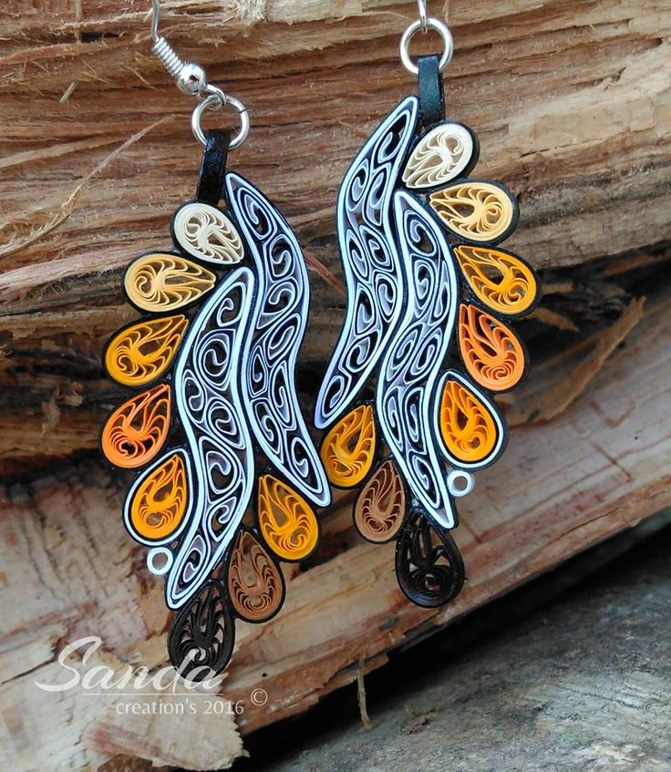 Pin By Mazen Shalaby11 On Paper Quilled Earrings Quilling Jewelry Quilling Designs Paper Quilling Jewelry