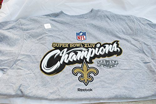 New Orleans Saints Super Bowl XLIV Champions Reebok T-Shirt, Adult Size XL