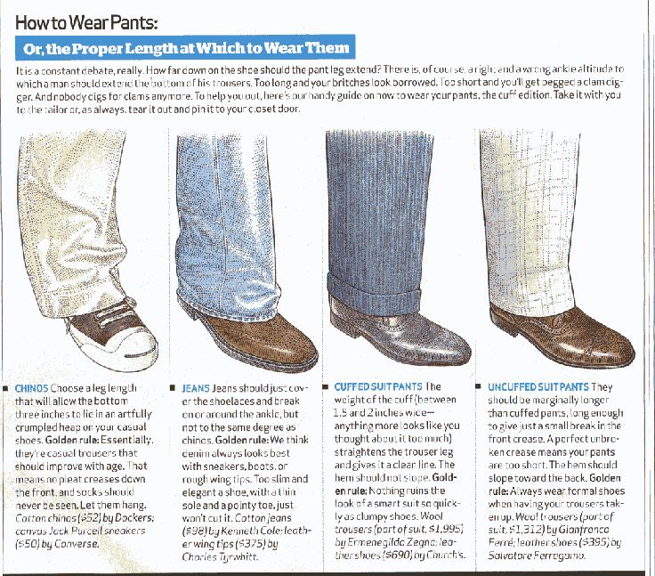 Long dress pants length