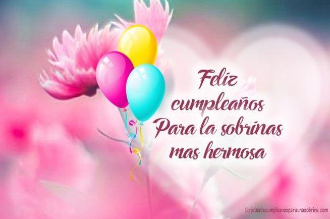 Imagenes Y Frases De Feliz Cumpleaños Para Una Sobrina