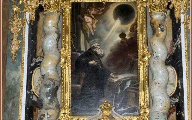 """Un ufo nel dipinto """"La visione di San Benedetto""""? All'interno della chiesa annessa al Convento benedettino di Weltenburg, presso Kehlheim, Cosmas Damian Asam dipinse molte opere di ispirazione devozionale, tra cui """"La visione di San Benedetto"""". La t #ufo #sanbenedetto #cosmasdamianasam"""