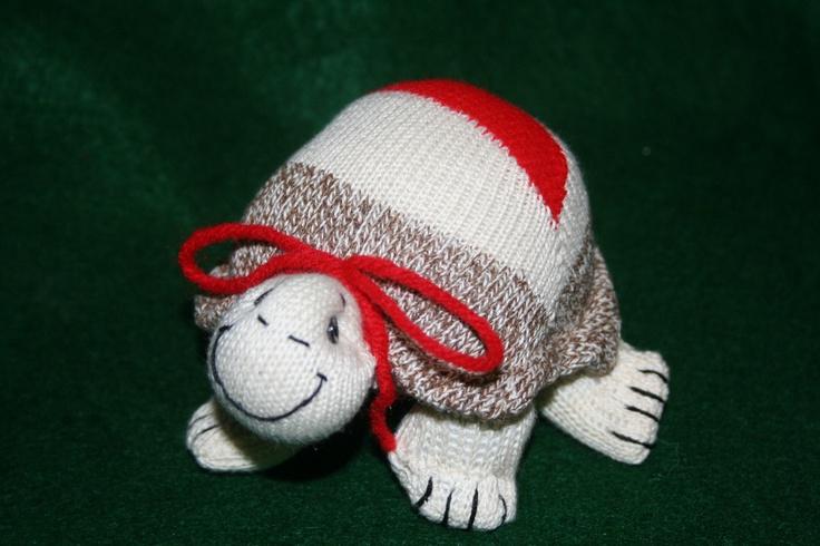 Handcrafted Sock Monkey Turtle