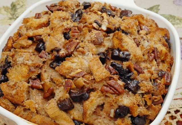 food522 pecan bread pudding w/bourbon | Just Desserts- | Pinterest