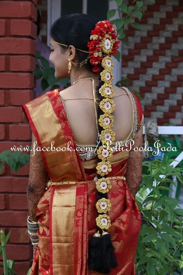 Indian Bridal Hair Style Wedding By Pellipoolajada