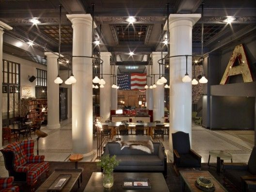 The ACE hotel, New York by Roman & Williams is getting a lot of feature on recent issue of CASA Brutus.