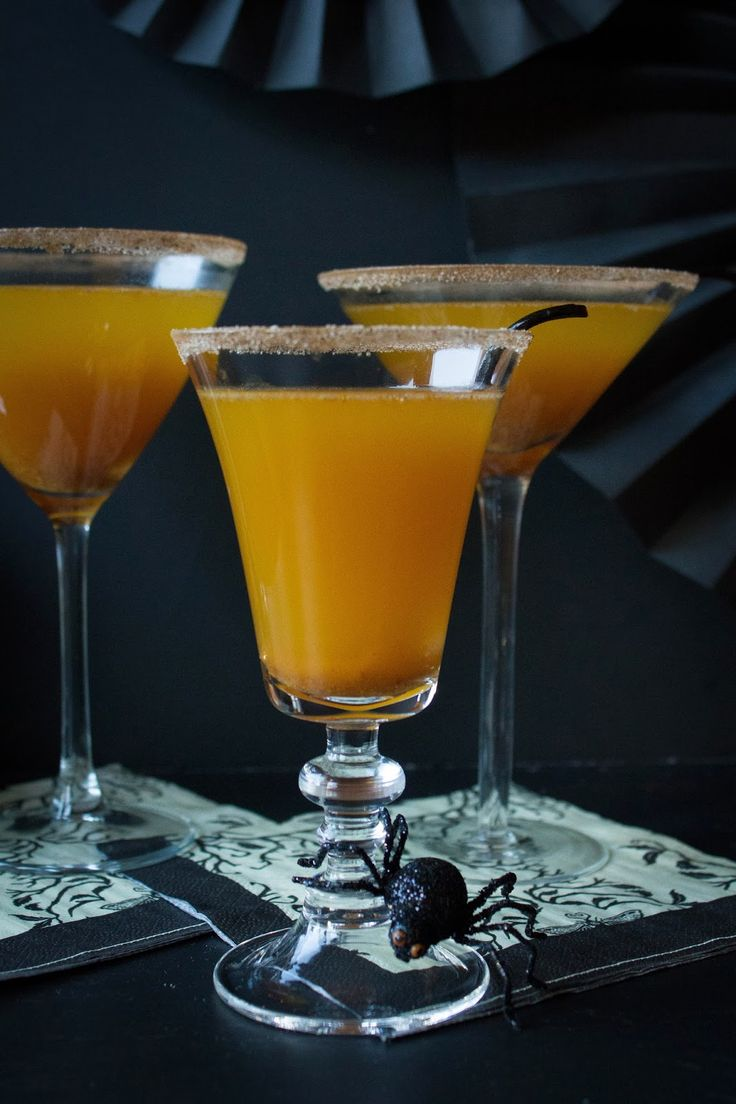 Pumpkin Champagne Cocktail - Pumpkin Butter , Simple Syrup or Ginger Simple Syrup (Recipe), Lemon Juice, Gin, Champagne or Prosecco, Cinnamon Sugar.