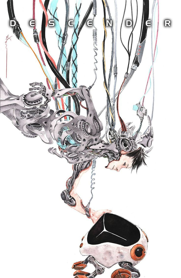 Descender Vol.2 by Dustin Nguyen * - this is one of the most beautiful comics I've ever seen. This is the cover that made me pick up the first volume.